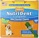 Nutri Dent Complete Dental Chews for Adult Dogs up to 10 Pounds, Chicken, 125 Count Pantry Pack