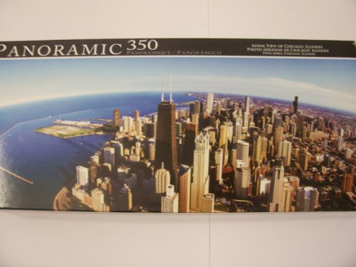 Panoramic 350 Piece Puzzle ~ Aerial View of Chicago, Illinois by Greenbrier