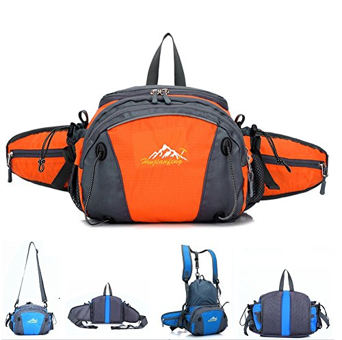 Hiking-Waist-Pack-MALEDEN-Outdoor-Water-Resistant-Lumbar-Pack-Bag-with-Water-Bottle-Holder-and-Shoulder-Backpack-for-Camping-Cycling-Hunting-and-Travel-Fanny-Pack-for-Women-Men