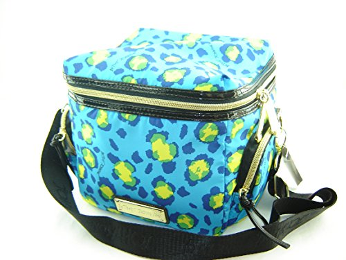 Betsey Johnson Kenya Cheetah Cargo Lunch Tote Bag Blue Multi - 1