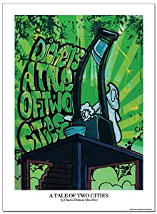 A Tale of Two Cities Graffiti Classics Literature Laminated Educational Poster. Eco-friendly, Art Print.