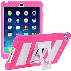 iPad Mini 3 Case, i-Blason Apple iPad Mini / iPad Mini with Retina Display Case ArmorBox 2 Layer Convertible [Hybrid] Full-Body Protection KickStand Case with Built-in Screen Protector for Kids Friendly (Pink / White)