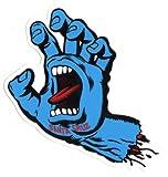 Santa Cruz Screaming Hand Skateboard Sticker in Blue - Jim Phillips Design 15cm NEW