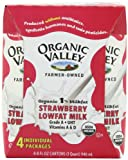 Organic Valley Strawberry 1% 4 Pack Single Serve, 8-Ounce (Pack of 6)