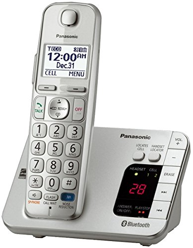 Panasonic KX-TGE260S Link2Cell Bluetooth Enabled 1 Handset Cordless Phone with Answering Machine, Silver (Certified Refurbished) - KX-TGE262S & KX-TGE263S Base-Station (Panasonic Phones 1 Handset compare prices)