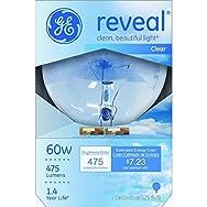GE Lighting 42360 Reveal Decorative Globe Light Bulb-60W G25 REVEAL BULB