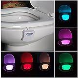 室内センサーライト  LEDライト トイレ用 照明 8種色を変換できる 夜にランプ 電池式 自動点灯と自動消灯の機能が付き