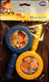 Disney Jr's Jake And The Never Land Pirates Maracas - 2 Piece Musical Instrument Set