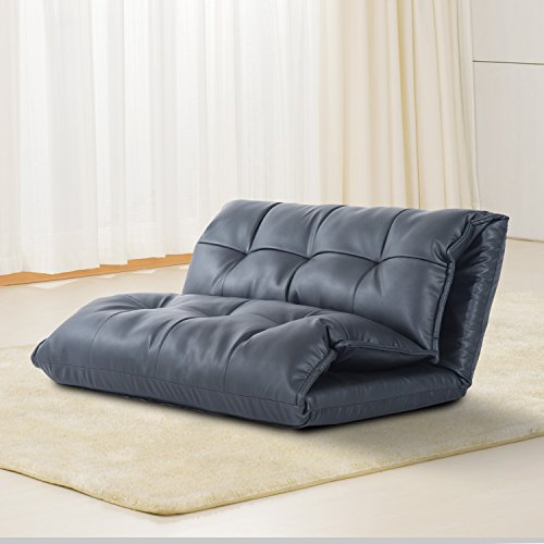 soft couches. Cheap HOMCOM PU Leather Lounge Guest Sofa Bed 5 Position Soft Floor Sleeper Adjustable Seat Couch Futon Couches
