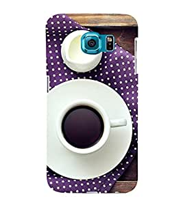 Cup and Saucer 3D Hard Polycarbonate Designer Back Case Cover for Samsung Galaxy S6 :: Samsung Galaxy S6 G920
