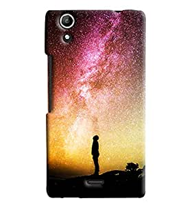 Blue Throat Men Watching Stars In Sky Hard Plastic Printed Back Cover/Case For Micromax Selfie 2