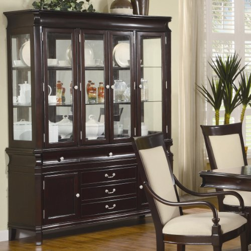 Cheap Beverly Buffet and Hutch with 4 Glass Doors by Coaster (B00509VWBW)