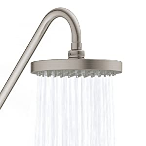 PULSE ShowerSpas 1011-BN-1.8GPM Kauai III Shower System with 8 Rain Showerhead, 5-Function Hand Shower, Adjustable Slide Bar and Soap Dish, Brushed Nickel, 1.8 GPM (Color: Brushed Nickel)
