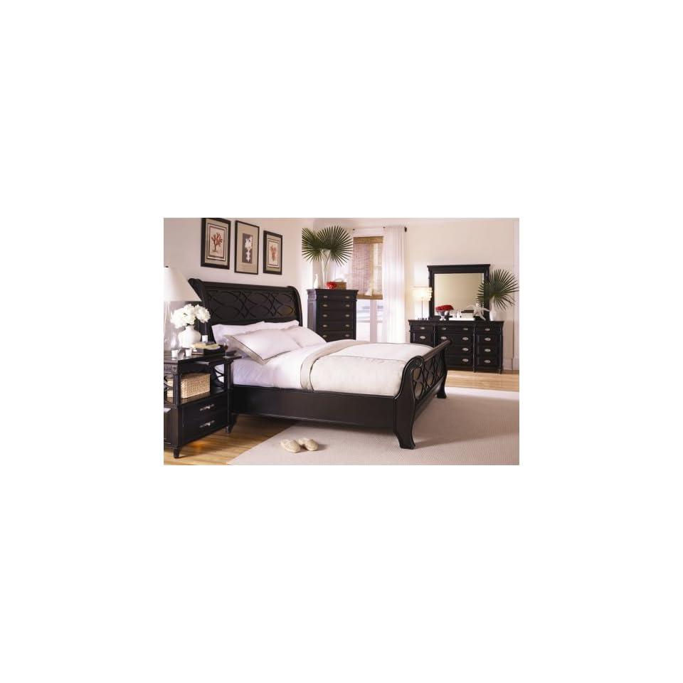 New Black King Sleigh Bed Master Bedroom Furniture Set