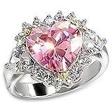Sailor Moon Usagi Tsukino's Engagement Ring Cosplay (8) (Color: Pink, Tamaño: 8)