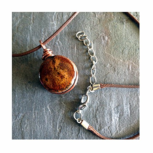 amber-gold-flake-essential-oil-diffuser-aromatherapy-pendant-necklace-175-195in