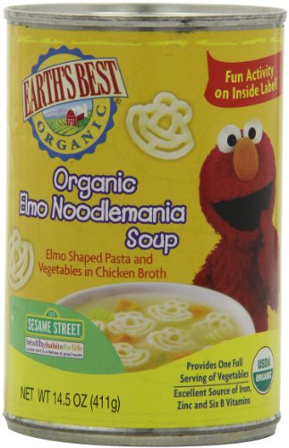Earth's Best Organic Soup, Elmo Noodlemania Soup, 14.5 Ounce (Pack of 12)