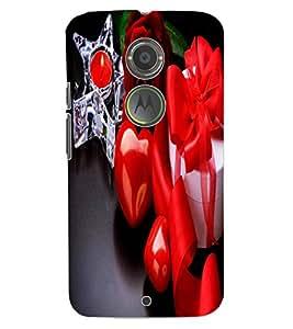 ColourCraft Love Collection Design Back Case Cover for MOTOROLA MOTO X2