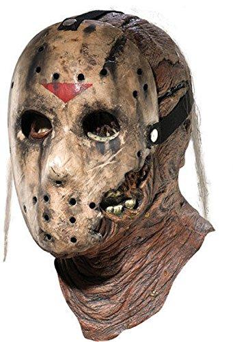 [Mememall Fashion Friday the 13th Part 7 Jason Voorhees 2 Piece Costume Latex Hockey Mask Vorhees] (Jason Vorhees Masks)