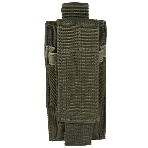 Army Tactical Single Pistol Magazine Pouch MOLLE System Webbing Airsoft Olive