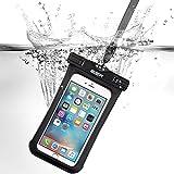 iPhone7/iPhone6s 防水ケース ESR スマホ防水ケース 防水カバー 防水保護等級IPX8取得 水深30m防水テスト 安全ロック100%密封 内蔵ポケット付属 iPhoneSE/5s/iPhone6s Plus/iPhone6s/Samsung Galaxyなど6センチ以下全機種対応 iphone6/6s携帯防水ポーチ ブラック