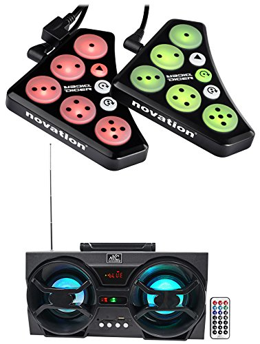 Novation DICER Digital Cue Point/Looping Serato/Traktor DJ Controller + Speaker (Turntable Dicer compare prices)