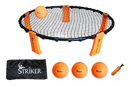 Striker Beach Volleyball Spike Game | Includes Ball (3) Net & Pump & Carry Bag | Exciting Fast Paced Outdoor Lawn Games | Perfect for Backyard, Beach, Tailgate | Fun for Kids Adults Family (Ps2 Ninja Games compare prices)