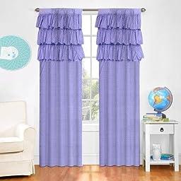 Mainstays Kids Ruffle Window Panel, purple size 63