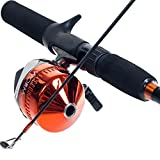 South Bend Worm Gear Fishing Rod and Spincast Reel Combo (Orange, Blue or Green)