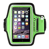 Gear Beast Sport Gym Running Armband with Key Holder and Reflective Safety Band for iPhone 6s, 6, Galaxy S7, S6, S6 Edge, S5, Motorola Moto G, Moto E, Moto X, Droid Maxx, Droid Turbo, Other