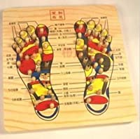 Wooden Magnetic Point Foot Reflexology Foot Massage Acupressure from Wazowski