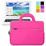 Evecase Ultraportable Neoprene Pocket Handle Carrying Sleeve Case Bag for Acer C720 / C710 / C7 11.6-Inch Chromebook - Hot Pink