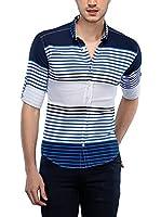 Philip Loren Camisa Hombre (Azul Oscuro / Azul)