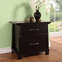 Martin Furniture Kyoto 2-Drawer Wood File Cabinet Dark Chocolate Finish