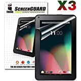 TabSuit® 3 Pack Ultra-Clear of High Definition (HD) Screen Protectors for Dragon Touch A93, KingPad K90, Astro Tab A924 and more 9'' Android Tablets