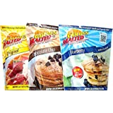 Carbon's Golden Malted Pancake & Waffle Flour Bundle: Blueberry, Chocolate Chip, and Original, 32-Ounce Packages