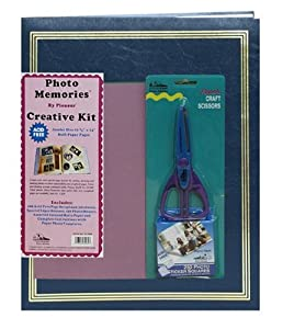 Pioneer 11 3/4 Inch by 14 Inch Jumbo Postbound 100 Page Memory Book Kit, Navy Blue