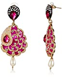 Ava Traditional Earring (Pink) (E-SD-AE127)