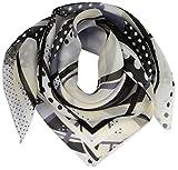 (ムーンバット)MOONBAT MixFactory シルク プチスカーフ うずまき幾何柄