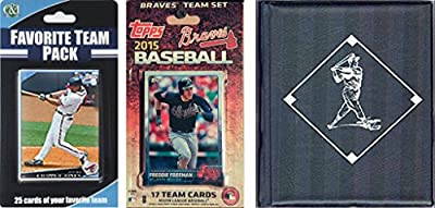 MLB Atlanta Braves Licensed 2015 Topps® Team Set and Favorite Player Trading Cards Plus Storage Album