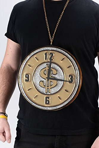 [Big Time Pimp Clock Medallion Necklace] (Flavor Flav Costume Halloween)