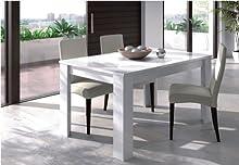 Comprar Habitdesign 004586BO - Mesa de comedor extensible de 140 a 190 cm, color blanco brillo, dimensiones cerrada 90 ancho x 140 largo x 78 altura