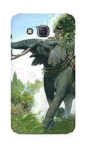 Amez designer printed 3d premium high quality back case cover for Samsung Galaxy J5 (War age elephant)