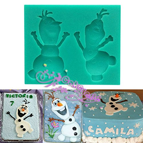 Fatflyshop - 3D Liquid Frozen Snowman Olaf Silicone Mold,fondant Cake Decorating Tools,silicone Soap Mold,silicone Cake Mold