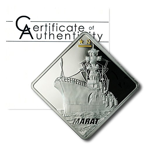 Palau Russian Battleship Marat $10 2010 2 oz Proof Silver Crown COA	2.00 ASW