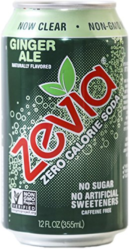 Zevia Naturally Sweetened Drinks, Ginger Ale, 24 Count (Pack of 24)