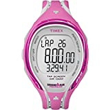 Timex Women's T5K591 Ironman Sleek 250-Lap TapScreen Pink/Gray Resin Strap Watch