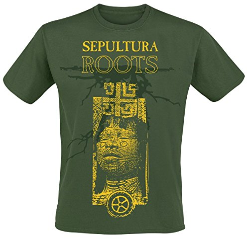 Sepultura Roots 30 Years T-Shirt verde scuro M