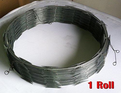 Razor wire ribbon barbed ″ coil feet per