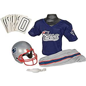 Franklin Sports NFL New England Patriots Deluxe Youth Uniform Set, Medium